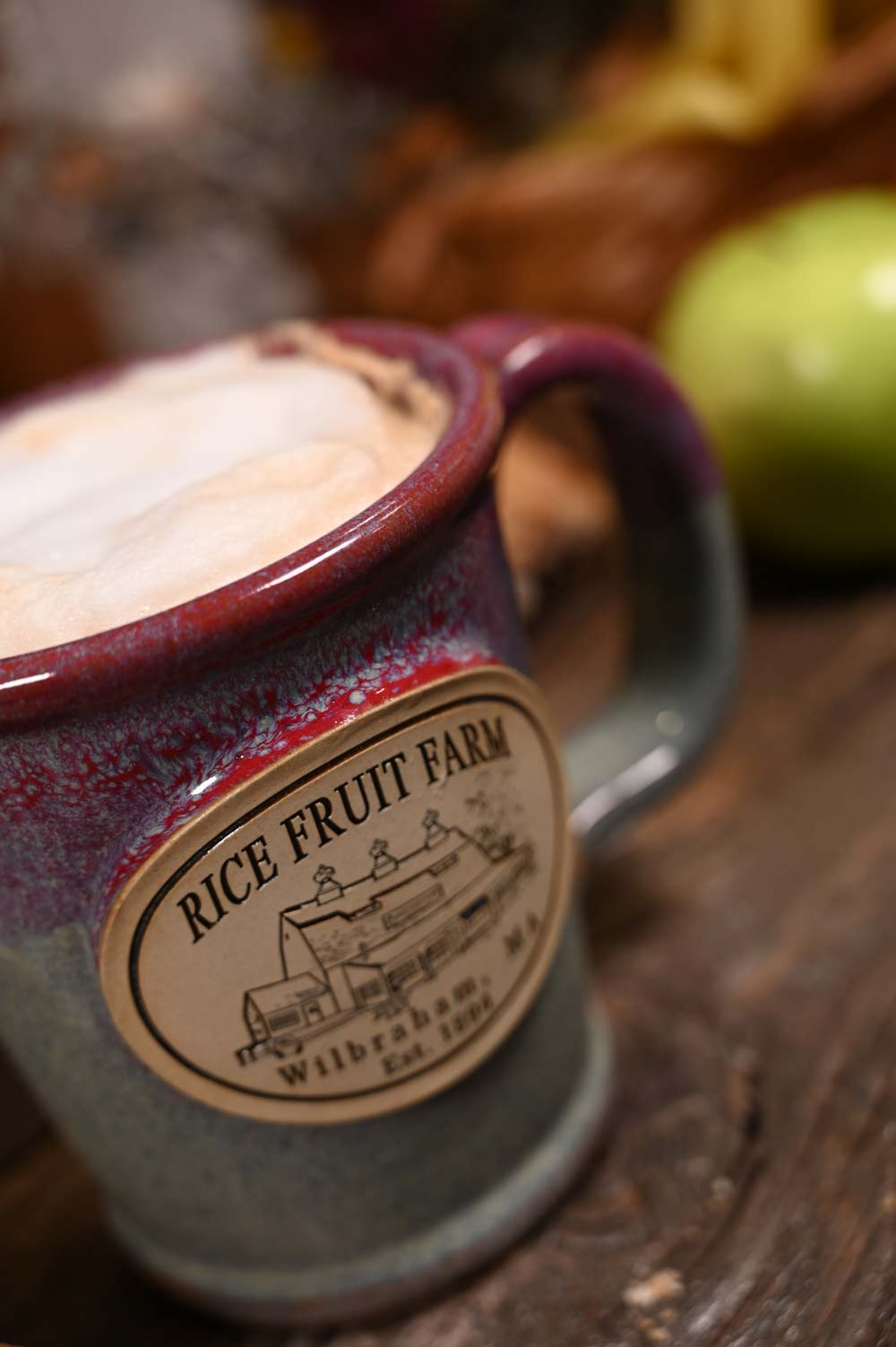 Rice Fruit Farm in Wilbraham, MA cup of craft coffee